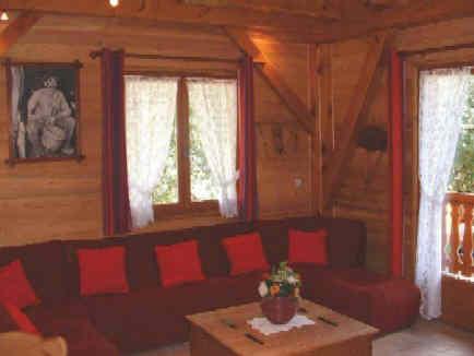 location d un grand chalet bois 8 personnes dans le beaufortain. Black Bedroom Furniture Sets. Home Design Ideas